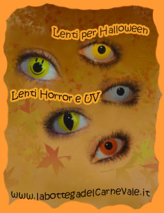 Halloween: lenti a contatto colorate, anche per luci discoteca UV